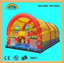 Indoor cozy Inflatable Attractions animal island combo amusement park inflatable jumping castle