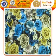 100 polyester 3d floral design printed velvet fabric for upholstery