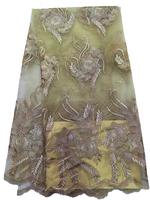 Pakistani Fashion Dress Style French Organza Lace Fabric/Polyester Cord Lace/Australian Organza Lace For Evening Dresses