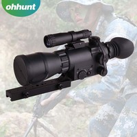 Military Monocular Night Vision Weapon Sight , Night Vision Rifle Scopes
