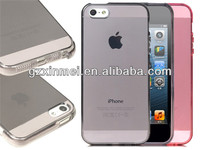 HOT HOT HOT transparent TPU cellular phone cover for iphone 5 case