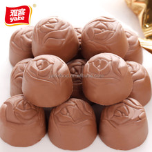 Wonderful brands of chocolate with rose shape