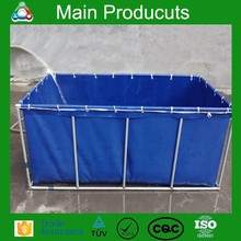 New design products portable flexible cube structure tropical fish tank for farming with covering