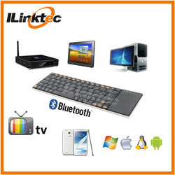 80 keys ILINK waterproof industrial mini bluetooth keyboard with touchpad for tablets PC smartphone