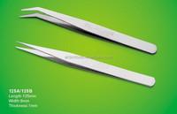stainlee steel tweezer for medical set 125A/125B