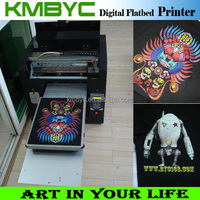 a3 size 8 colors high speed digital flatbed t shirt photo printing machine for sale