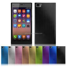 Wholesale slim and light brush polish metallic aluminum made case for iPhone 5 or 6, Huawei P8,Samsung, Nokia