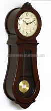 Glass Wooden Pendulum Wall desktop Clock for bedroom