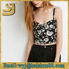 Floral Knotted-Front Crop Top ladies fancy sleeveless embroidery designs western tops