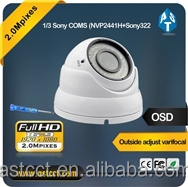Full HD resolution 1920 x 1080P, outside adjust varifocal AHD IR Dome Camera, 2.8-12mm lens with IP66