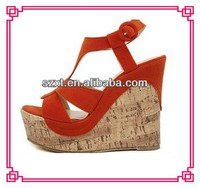 Latest High Heel shoes for girls 2013 Women high platform wedge heels sandal shoes ladies sexy wedges shoes