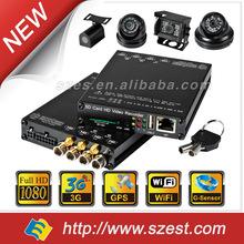 MDVR DVR Car (4CH 1080p+ WIFI + G-Sensor + GPS + 3G)