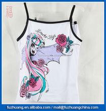 Roupa das crianças set meninas colete & bikini sportwear monster high 012