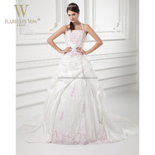 Alibaba 2015 pink and white wedding dresses