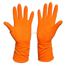 WJ10 kitchen rubber glove/garden /latex cleaning glove Hot sale of warm white latex household gloves,disposable long cuff