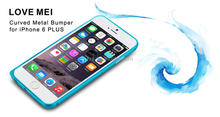High Quality new design Aluminum metal bumper cell phone case for iphone 6plus