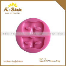 Masquerade mask silicone fondant mold silicone cake mold