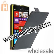 Black Magnetic Top Flip Full Body Leather+PC Case Cover Shell for Nokia Lumia 1520