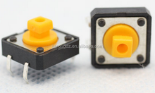 push button tactile switch yellow cap