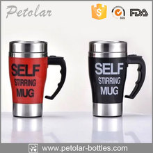Novelty custome pantone car mug battery operated self stirring mug