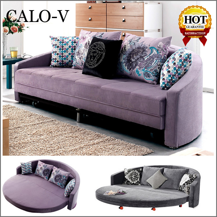 wholesale fabric 2 seater round sleeper sofa bed half moon oval big round sofa twin sleeper for. Black Bedroom Furniture Sets. Home Design Ideas