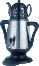 Stainless steel cordless tea pot and kettle set for kettle
