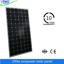 sunpower 200w mono solar panel price for wholesale