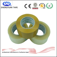 2015 professional water-based pressure sensitive adhesive transparent OPP tape with high viscosity