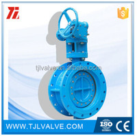 double eccentric rubber sealing shouldered butterfly valve din/ansi wras cert