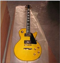 venta al por mayor lp personalizado de marca de guitarra clásica guitarra eléctrica de color amarillo