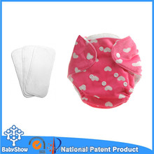 Wholesale resuable minky printed baby diaper with magic tape baby diaper with new design baby diaper with velcro