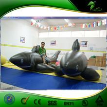 4m nero lunghezza gonfiabile gigante squalo mare/forma animale gonfiabile