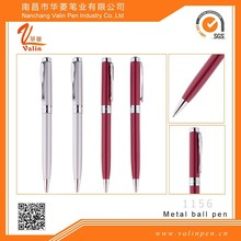 Red/sliver metal ball pens promotional gift items for doctors design logo printing