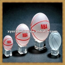 2012 new hot sale crystal basketball