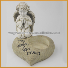 Resin angel with candle holder