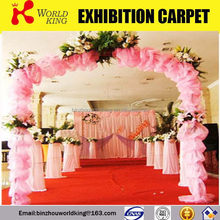 Latest branded polyester red wedding carpet