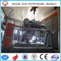 Réplica relógios, dois braços de transporte da máquina, shuttle máquina de moldagem rotacional