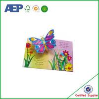 new design high quality costom board Children's pop up books