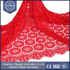 51-52'' Pakistani embroidery red lace fabric / Wholesale water soluble lace with rhinestones for garments