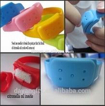 nuevo de silicona anti mosquitos pulsera pulsera de banda repelente de mosquitos citronella