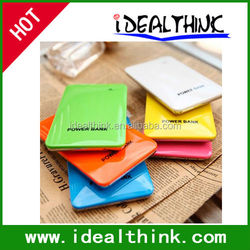 Thin Mobile 10000mAh Power Bank Dual USB Charger 4 Connector Candy Portable External Battery For All Mobile Phone