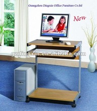 Mobile wooden office computer desk (DX-011)