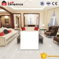 Main product made in China floor tiles piso porcelanato 80x80 ivory white Foshan factory