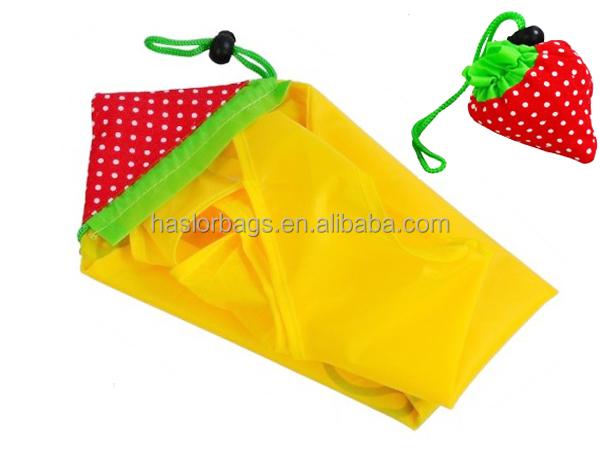 Gros mode Polyester pas cher pliable Shopping bag