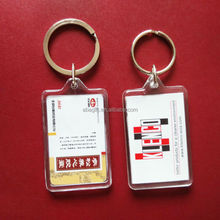 High Quality Souvenir Blank Plastic Acrylic Photo Keychain Keyring