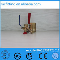 dn20 Brass Ball Valve with Pipe Nipple