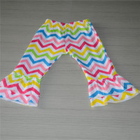 Children kids girl coloful ruffle pants chevron dress retail store wholesale price