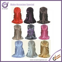 #248 wholesale satin universal self-tie banquet chiavari slipcovers chair cover for wedding cheap