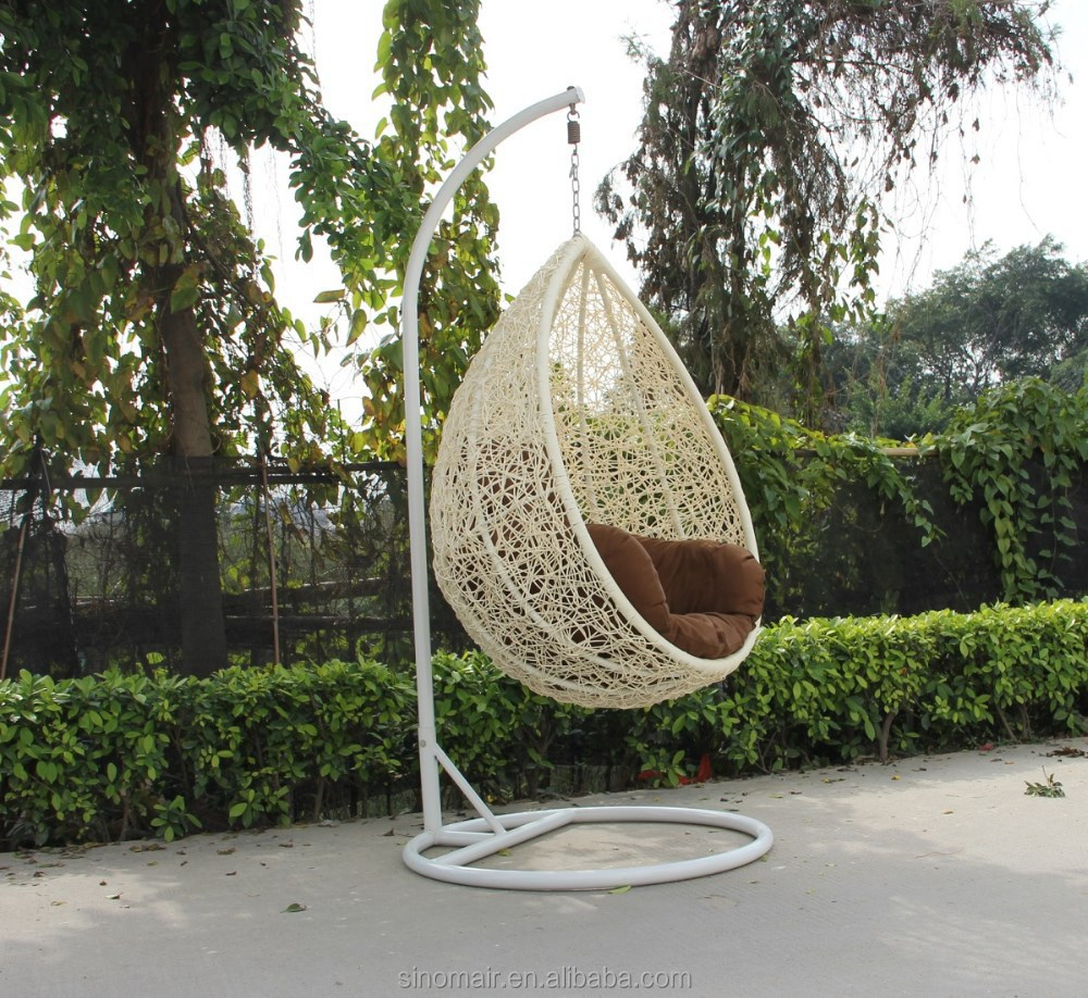 Egg shaped rattan chair swing buy egg shaped wicker for T shaped swing set