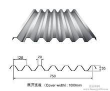 New building construction materials Color glazed steel sheet roofing step tile